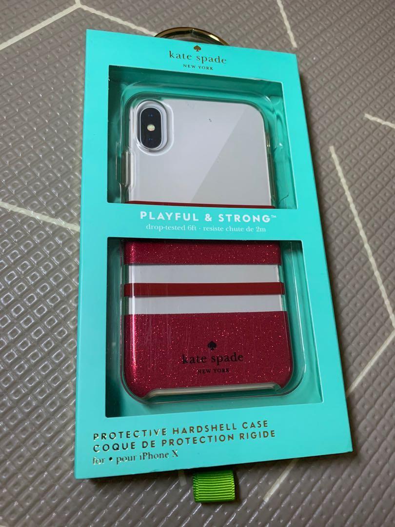Kate Spade Case Cover Iphone X Pink Glitter