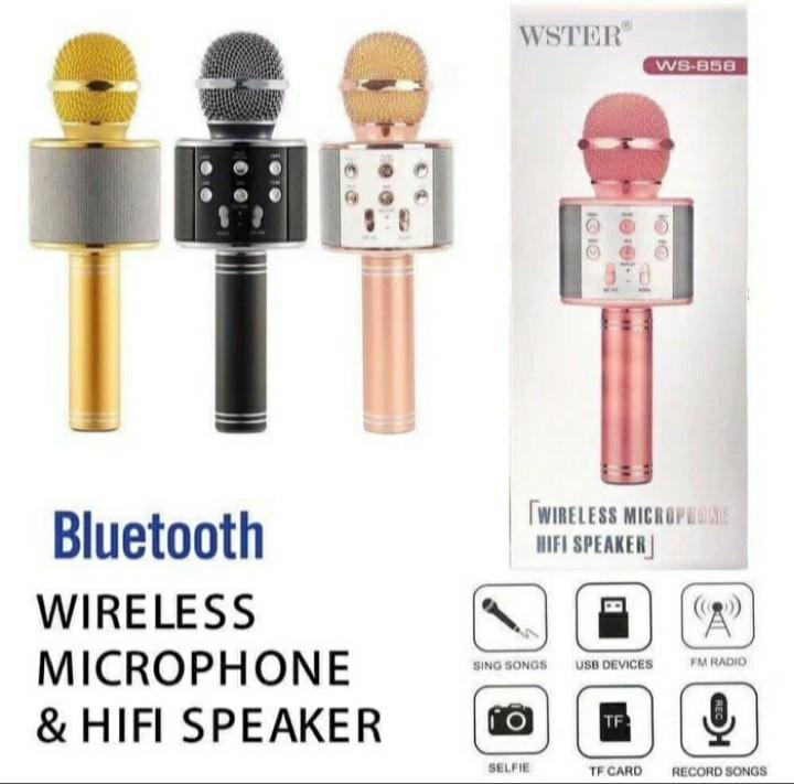 Mic Bluetooth Wster Microphone Karaoke