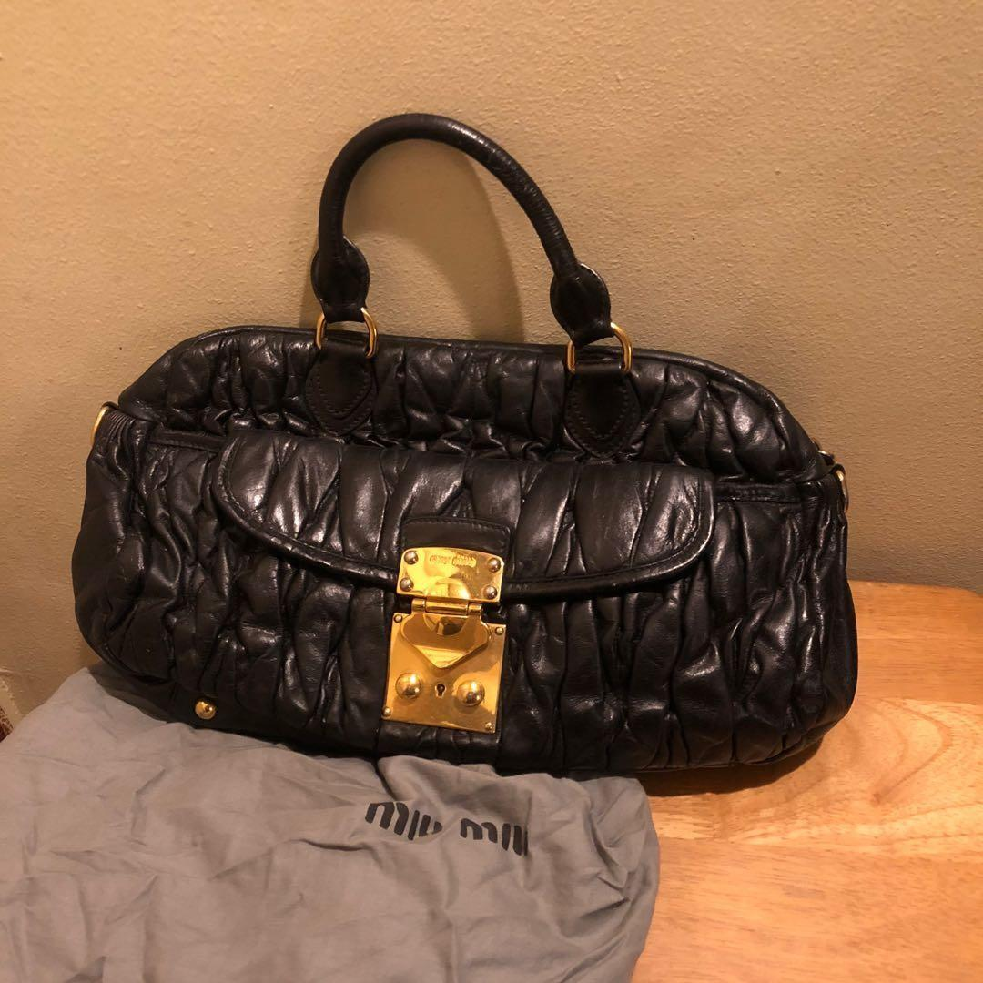 Miu Miu Black Doctor's Bag