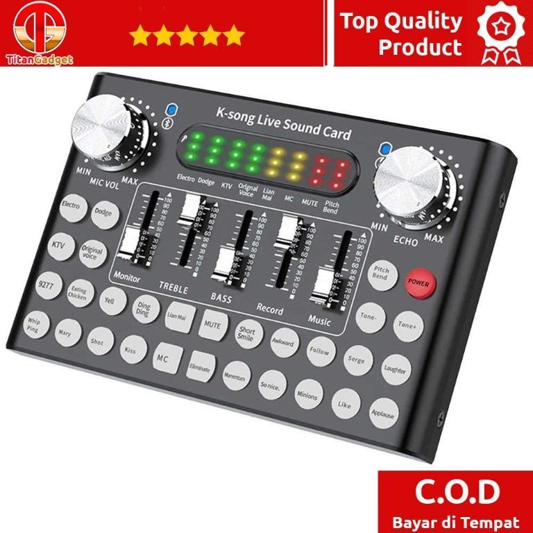 Mixer USB Sound Card Amplifier Live Broadcast Recording - F8 TitanGadget