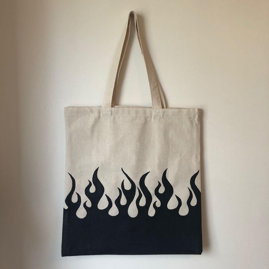 Natural Flame Tote Bag