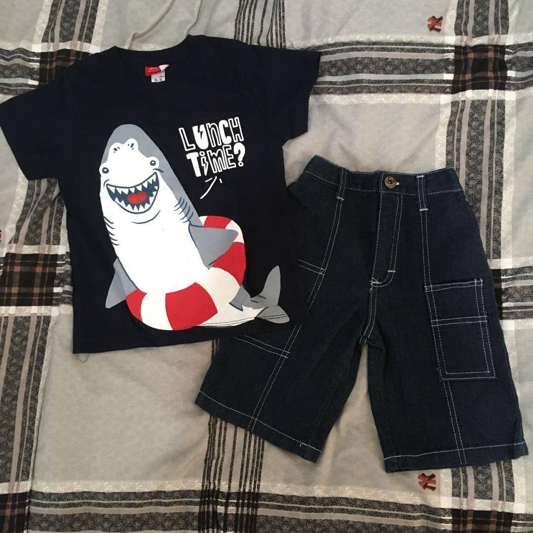 new graphic tshirt denim pants