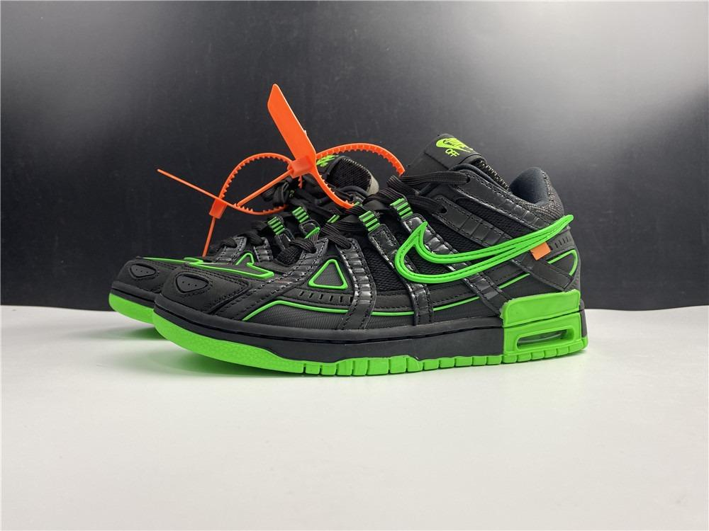 OFF-WHITE x Nike Air Rubber Dunk Green Strike CU6015-001 Men And Women Size EU36-45 US5.5-11