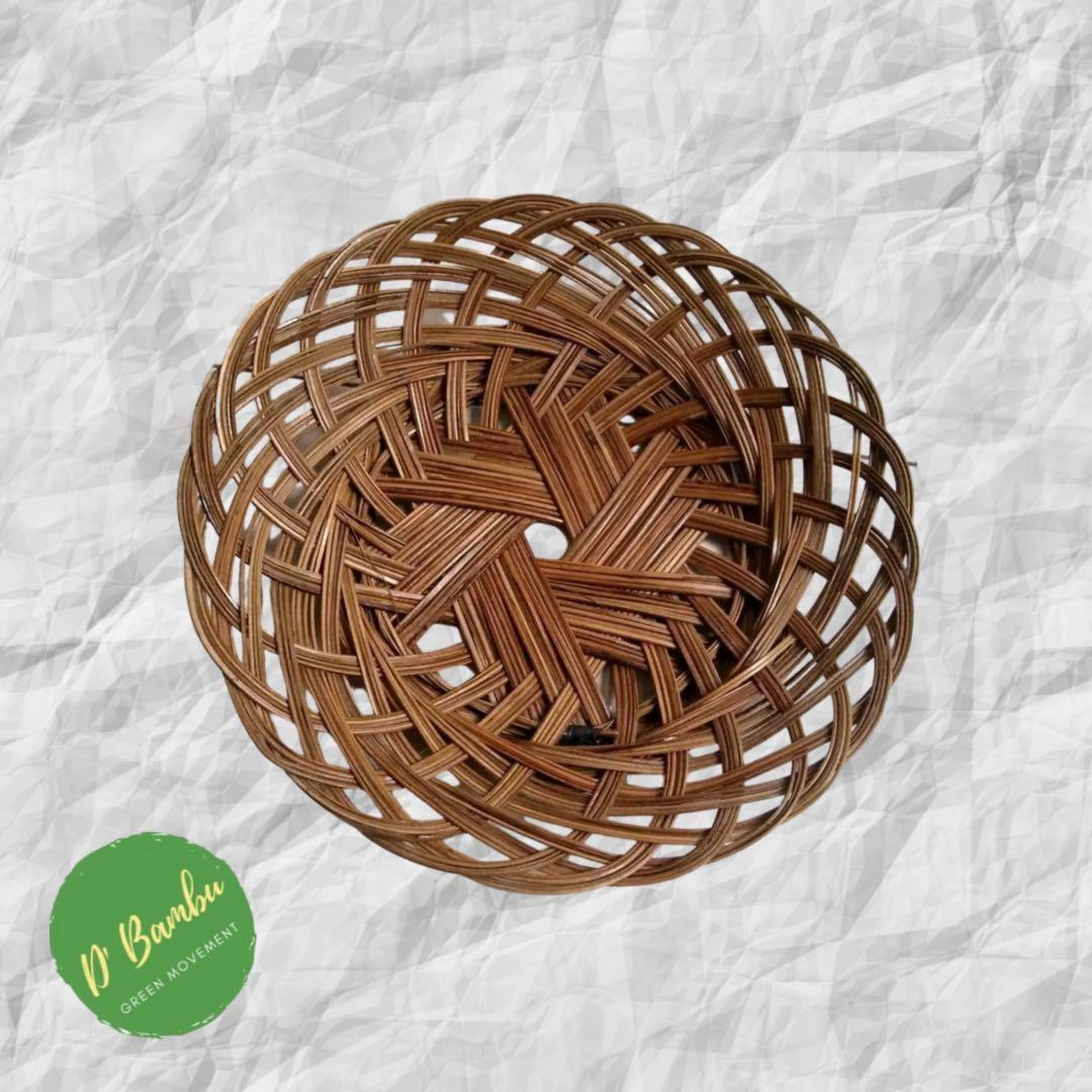 Piring anyaman bambu 50 Pcs
