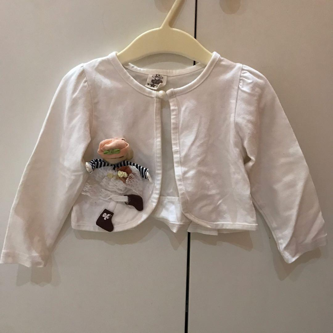 preloved ! import cardigan anak perempuan size  1-3thn
