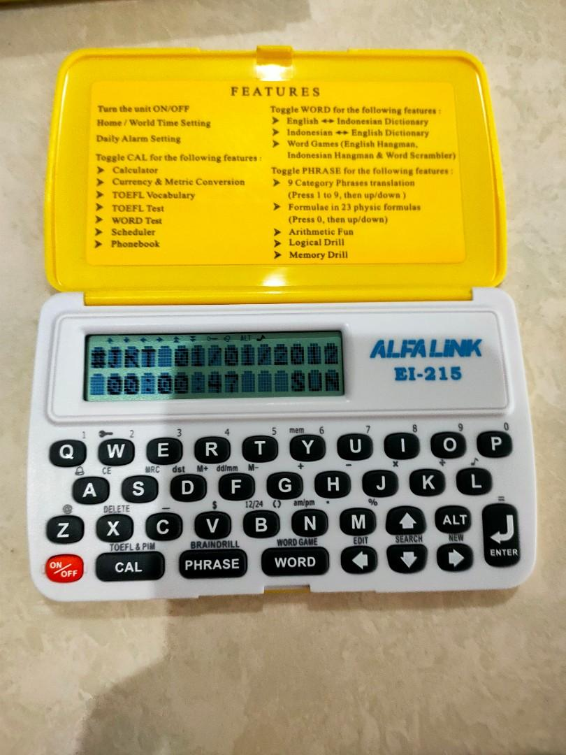 Preloved Kamus elektronik &Translator Alfa Link Ei-215
