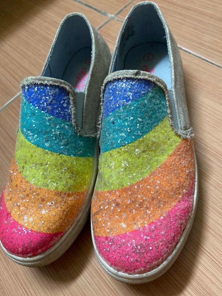 Rainbow sneakers girls