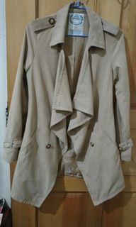 XS 麂皮 風衣 外套