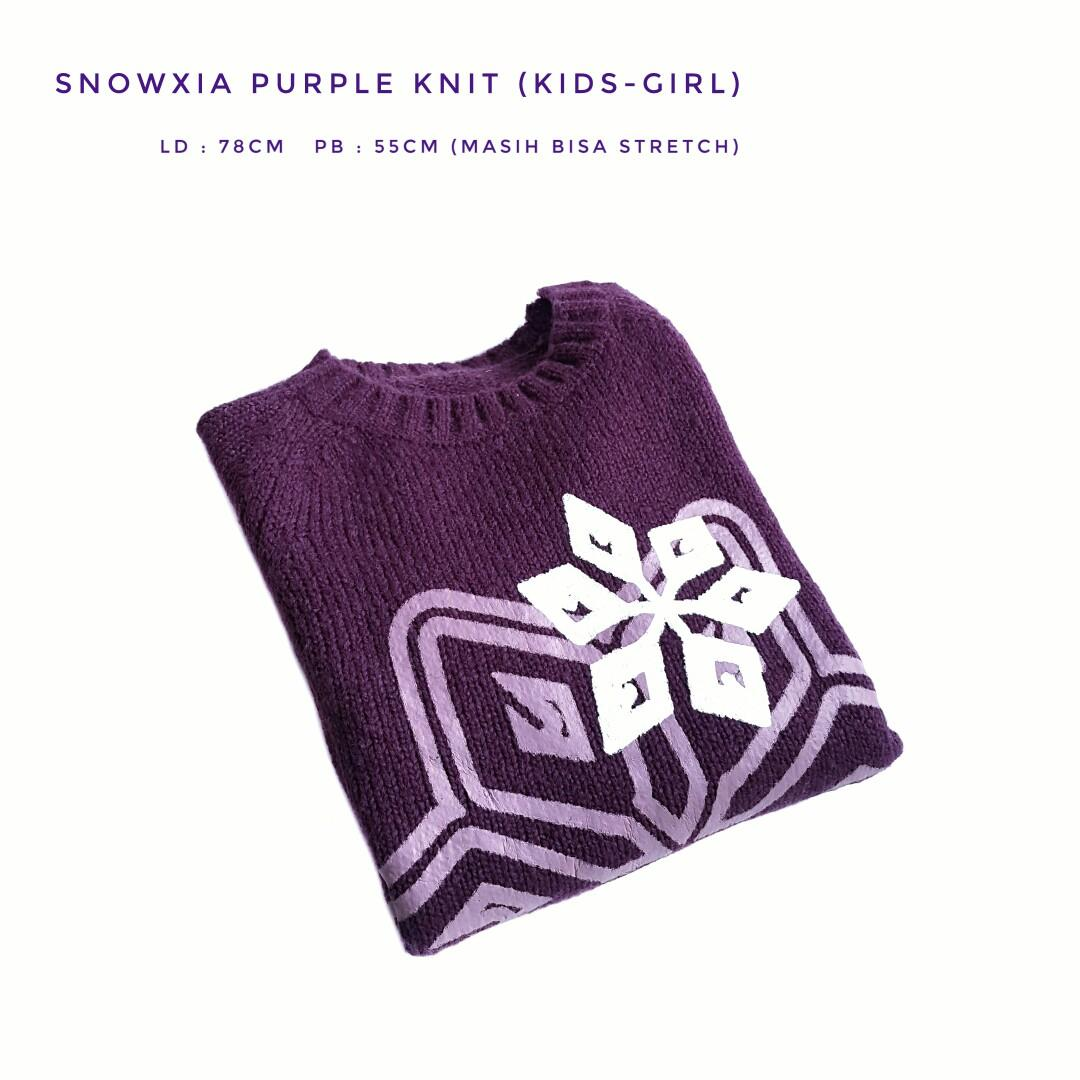 Snowxia Purple Knit (KIDS-GIRL)