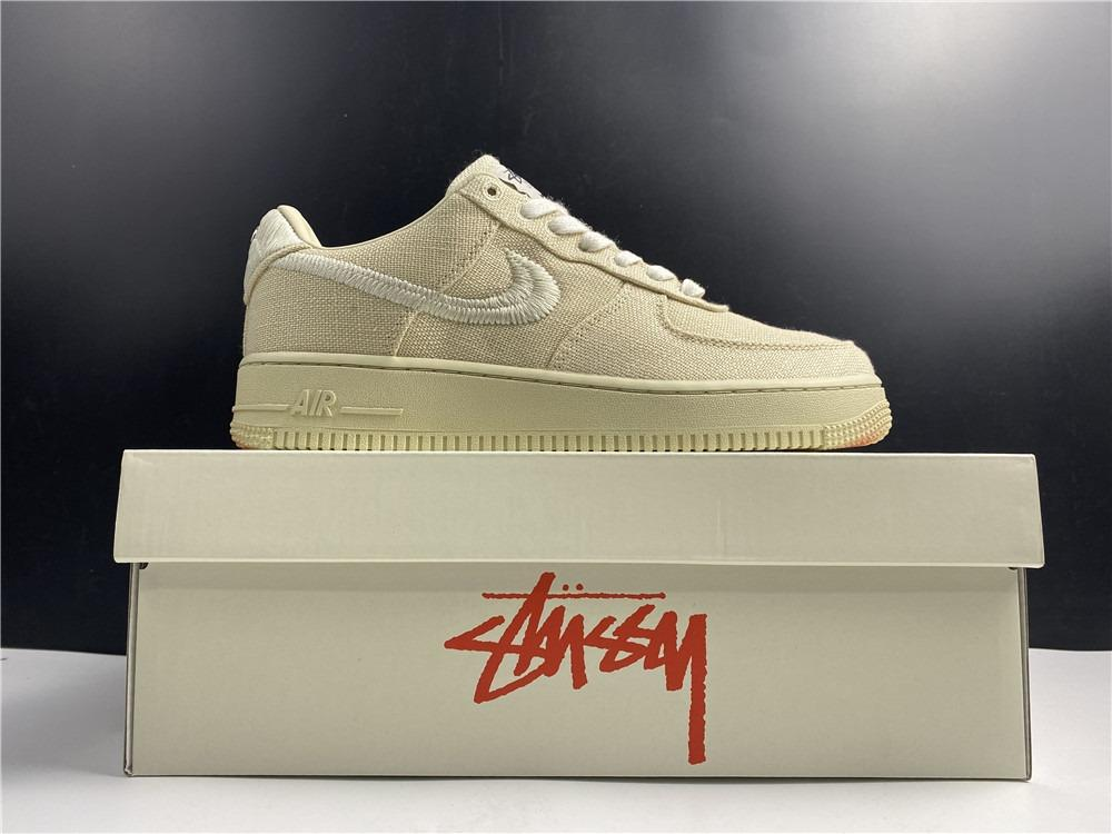 Stussy x Nike Air Force 1 Low Fossil Stone CZ9084-200 Men and Women Size EU36-46 US5.5-12