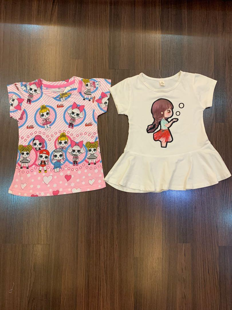 Take all dress putih sz 100(2th) ld27,  NEW lol sz 4(2th) ld 28cm