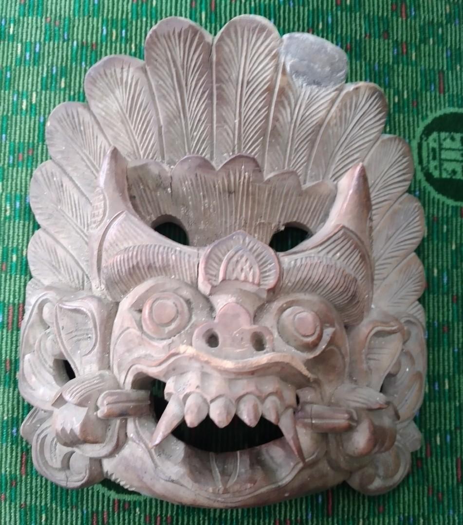 Topeng Bali Ukiran Kuno