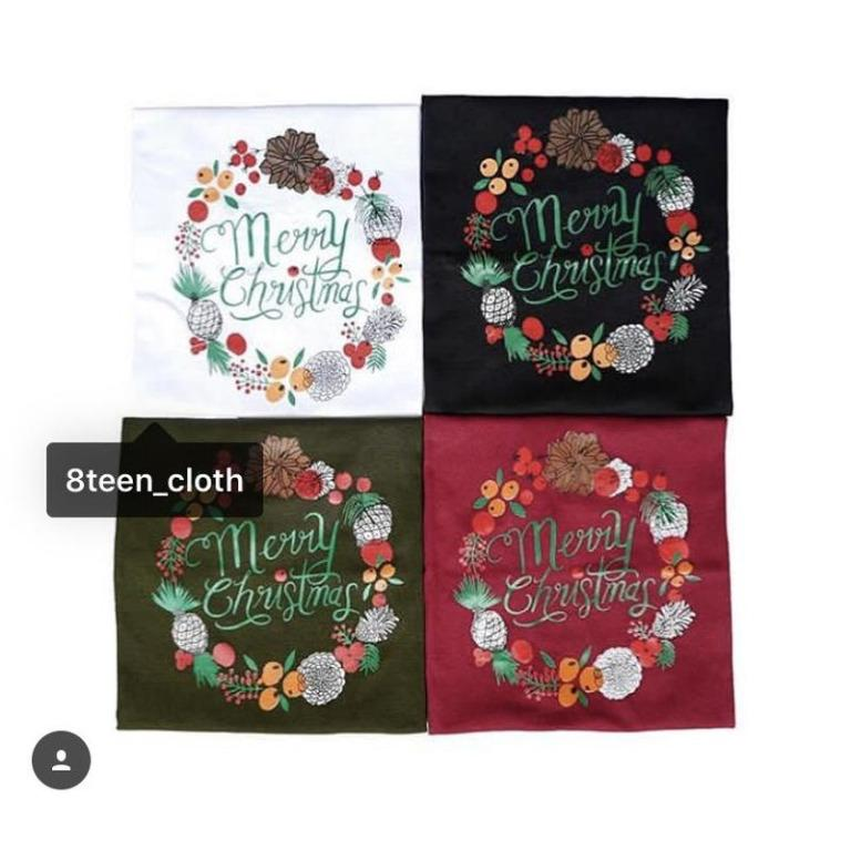 T-shirt Kaos Anak Merry Christmas Flower Bahan Cotton Warna Baju Anak Natal
