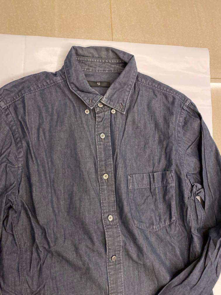 Uniqlo X +J 牛仔襯衫 M號