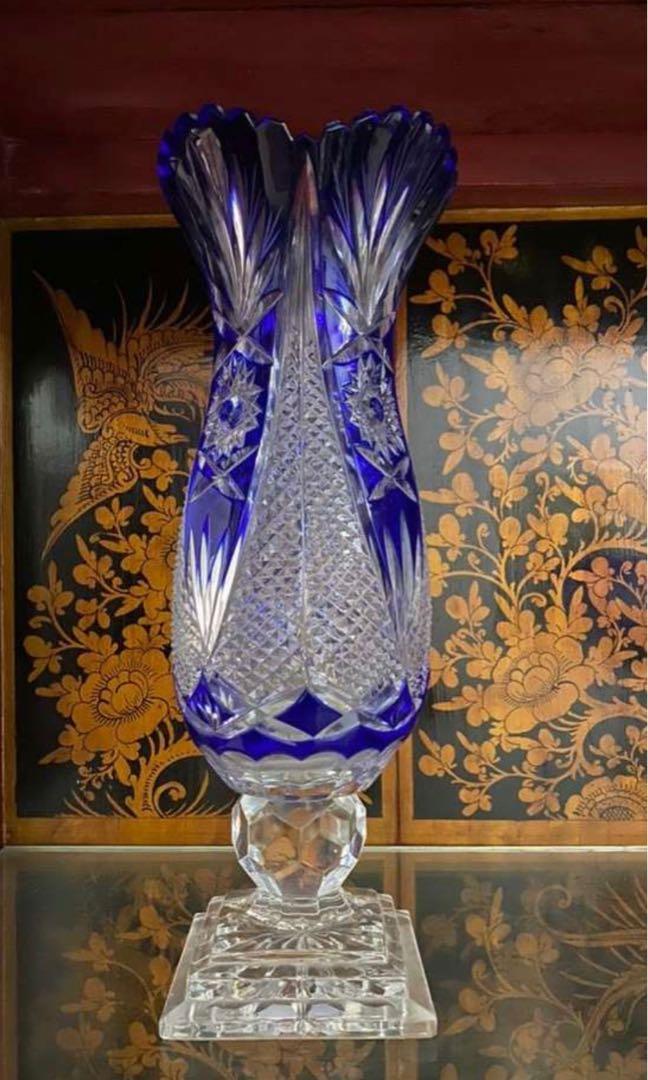 Vas kristal biru bohemia