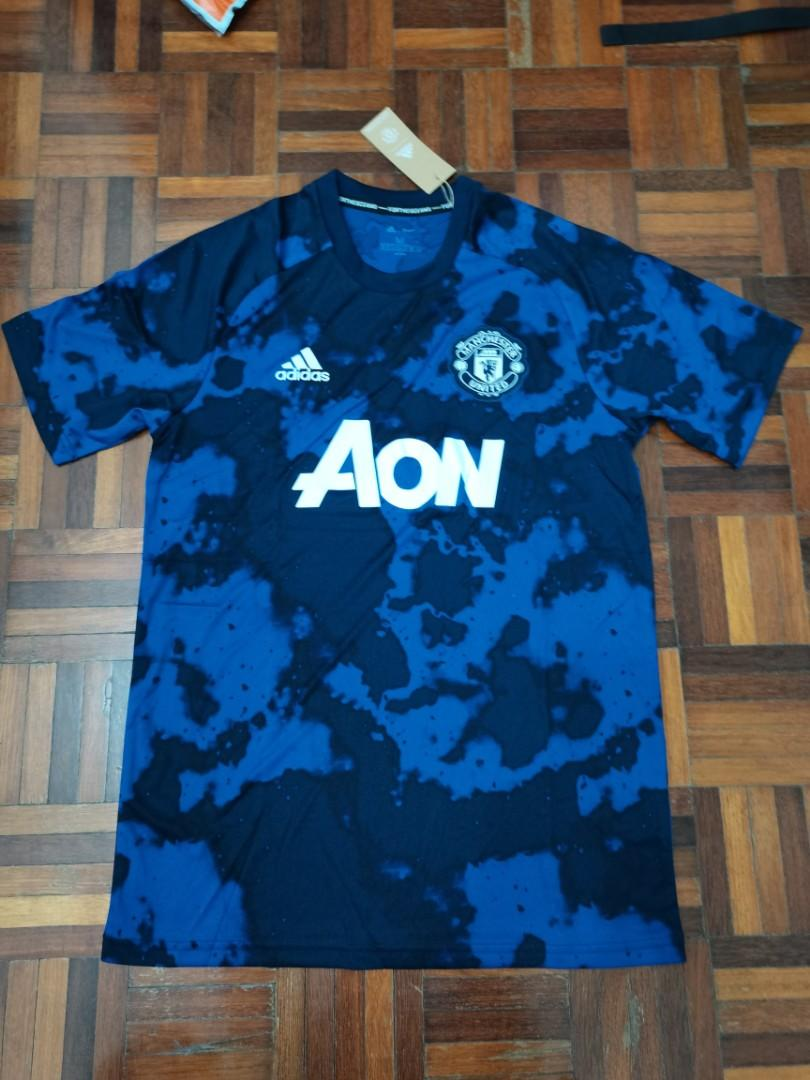 (100% Authentic) Manchester United Pre Match Jersey 2019/2020