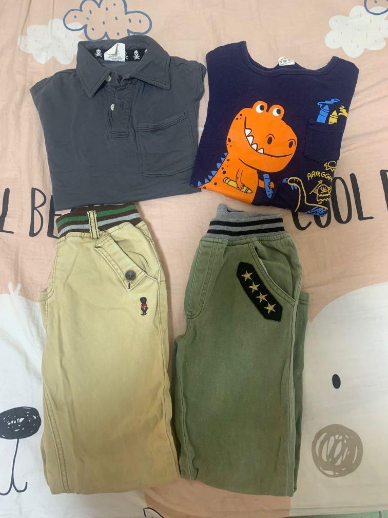 衣櫃出清-衣標11-13號  2 件上衣+2件褲子