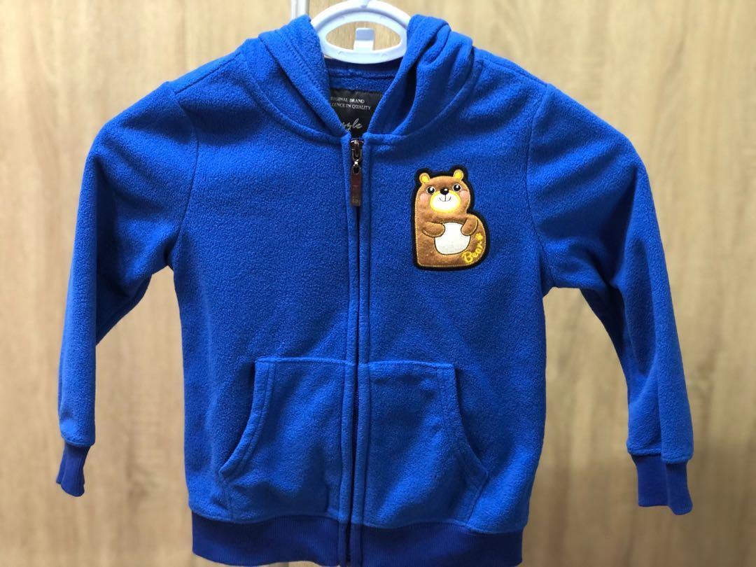藍色兒童外套3Y~4Y