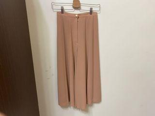 古著 粉橘寬褲裙