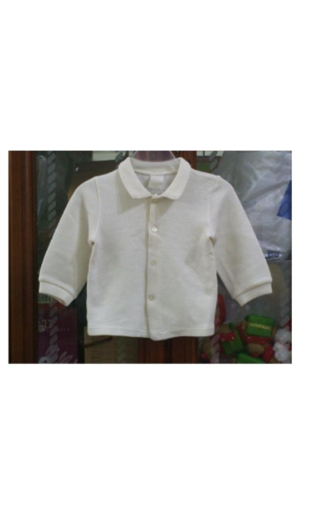 免費贈送 童裝 米白 長袖  上衣 外套