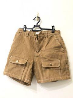 深棕 口袋 短褲 M