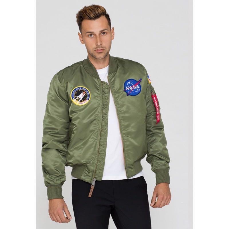 (現貨) ALPHA Industries NASA MA-1 flight jacket 現貨軍綠M