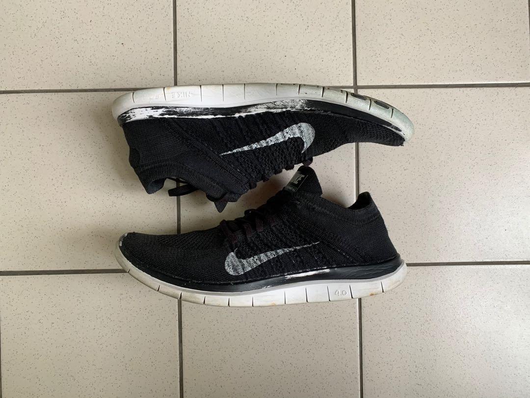 二手商品 Nike free flyknit 4.0 黑色