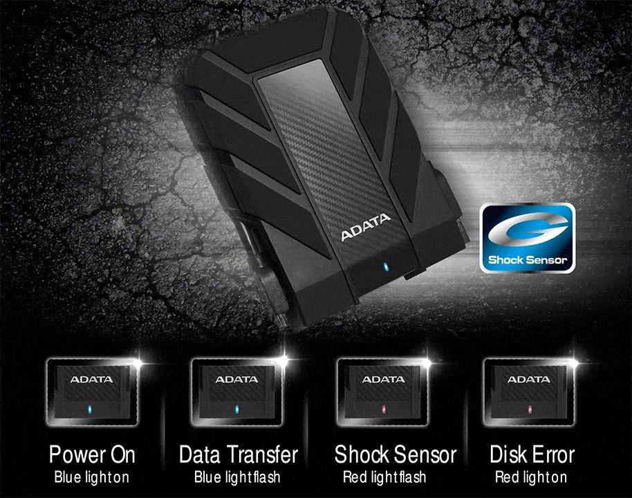 "Adata HD710 Pro 2TB 2.5"" HD HDD Hardisk Eksternal External USB 3.1 - Hitam"