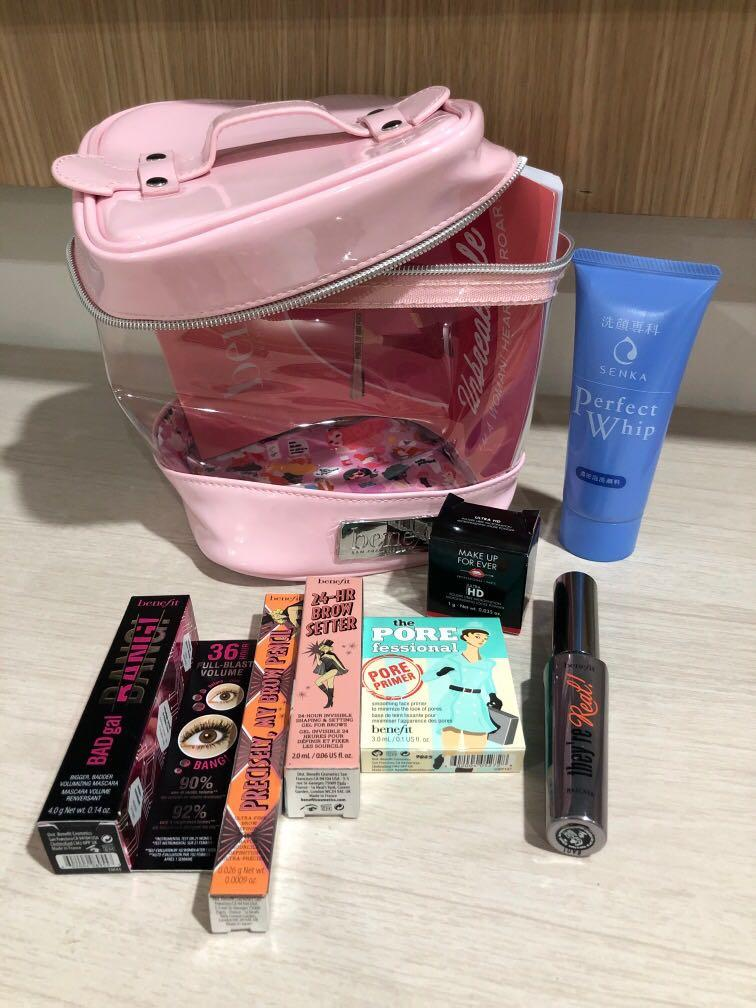 BENEFIT PRECISELY, MY BROW SETTER BAD GAL MASCARA MUFE LOSSE POWER POREFESSIONAL