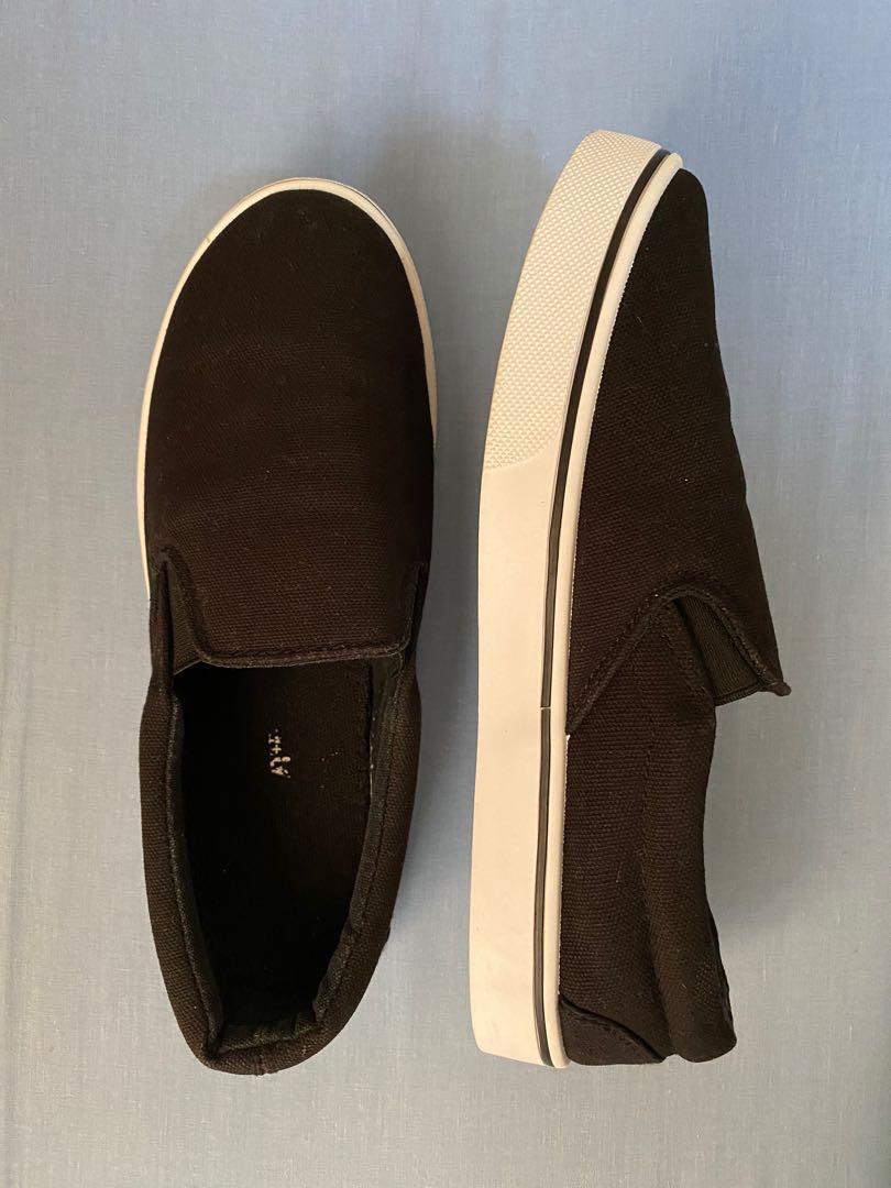 Black Slip On Shoes Size 7