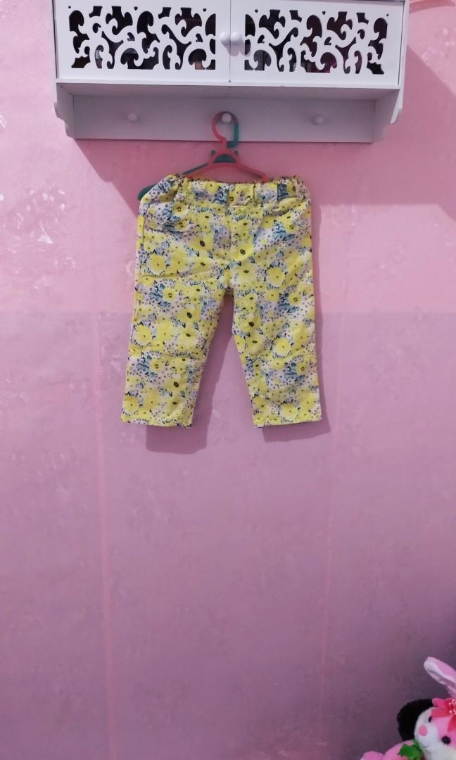 Celana kain anak bunga