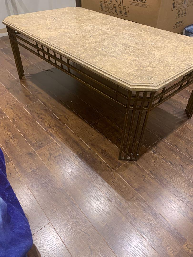Coffee table - marble top