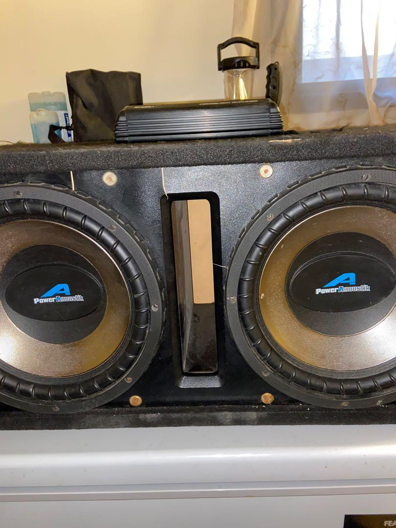 "Dual 12"" Subwoofer and Amplifier Combo!!"