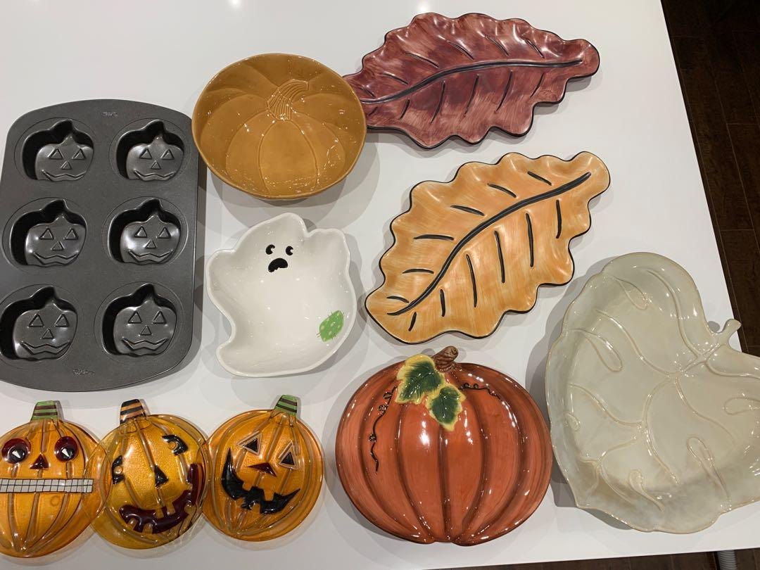 Fall and Halloween platters
