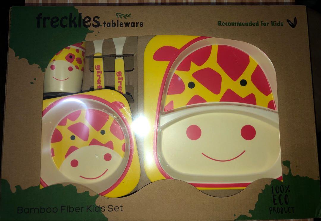 Freckles Tableware Bamboo Fiber Kids Set