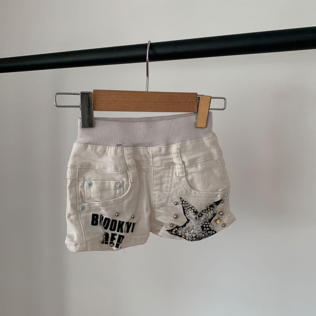 Freeparty 卯釘 星星 牛仔褲 短褲 牛仔短褲 3 80cm 18個月