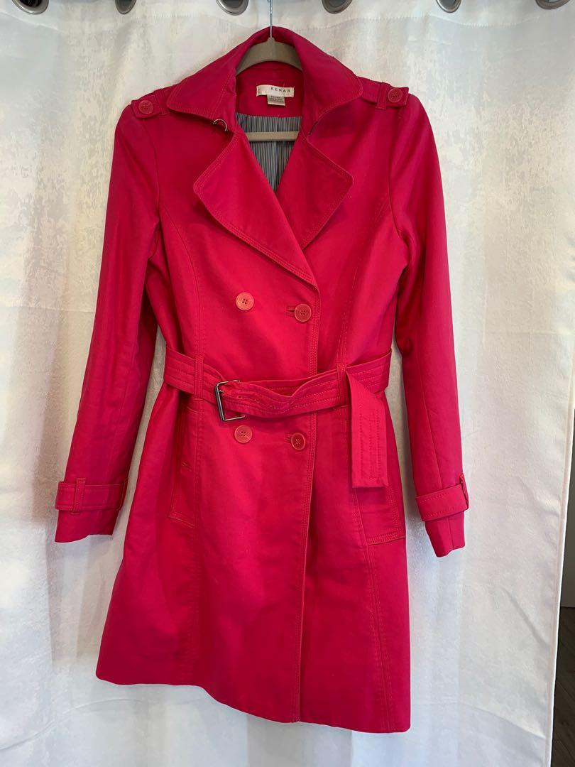 Fuchsia Cotton Jacket/ Coat
