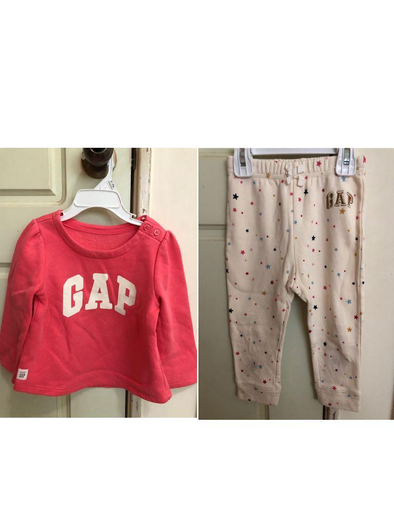 Gap女童長袖套裝 長袖上衣 長褲#換季
