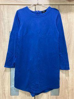 H&M 洋裝 寶藍