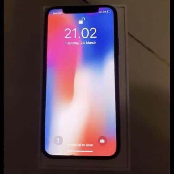 iphone X 64 GB warna space grey