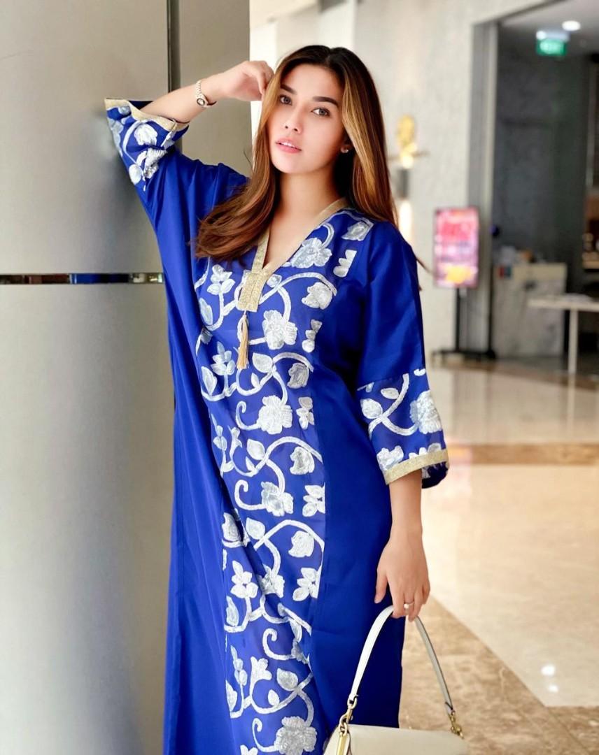 Kaftan Dubai rose blue
