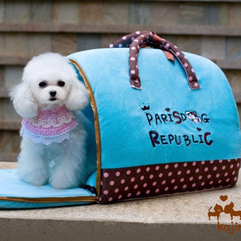 【KOJIMA】可愛可攜式寵物窩(藍)