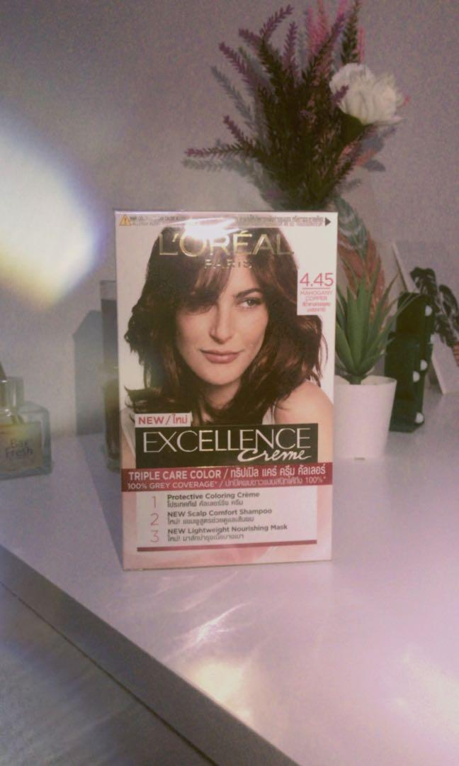 L'Oreal Paris Excellence Creme Hair Color - 4.45 Mahogany Copper Brown