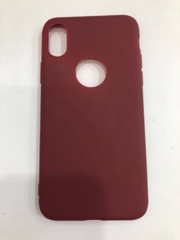 Macaroon Case Iphone X - Maroon