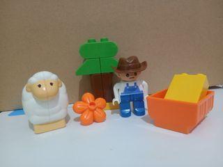 Mainan balok happy farm
