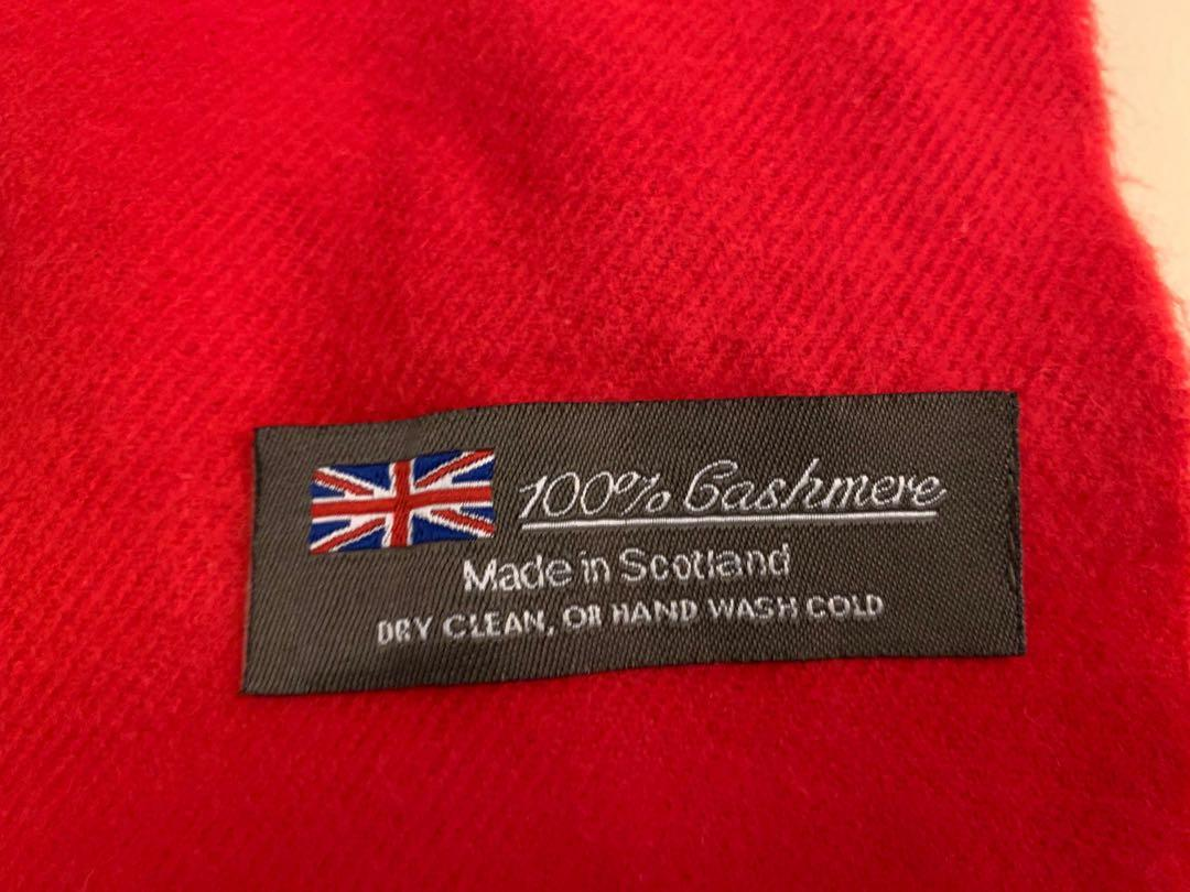 NEW 100% cashmere red scarf