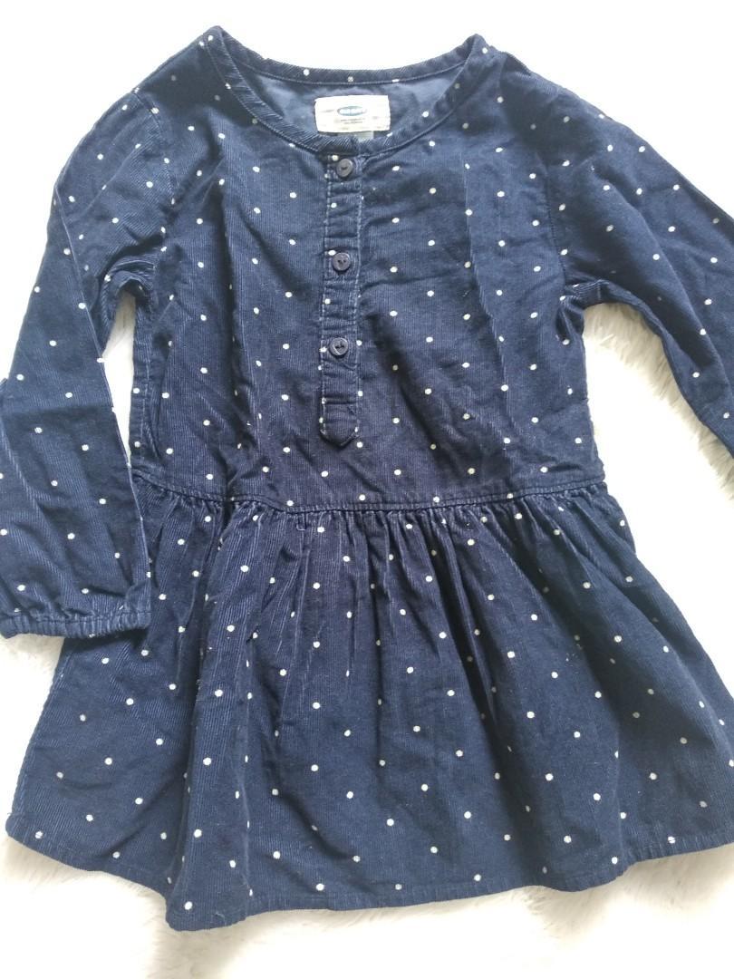 Oldnavy dress blue polkadot 12 - 18months