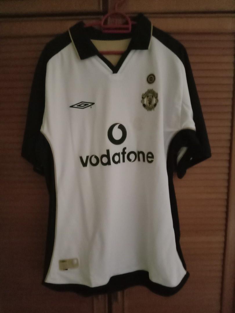 Original 2001-02 Manchester United Centenary Away/Third Shirt M