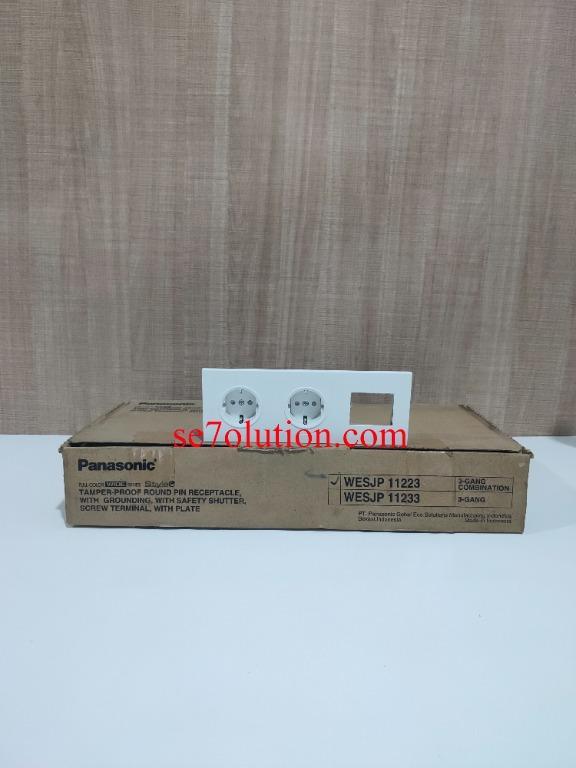 Panasonic Stop Stop Frame Minimalis Putih (WESJP-11223W)