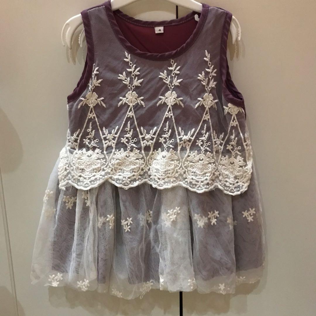 preloved ! dress anak perempuan brukat size 2-3thn